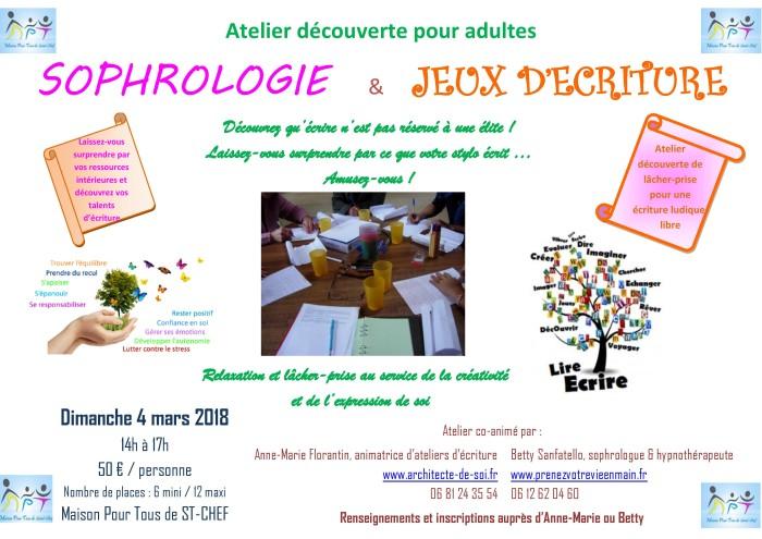 Atelier Ecriture et sophrologie