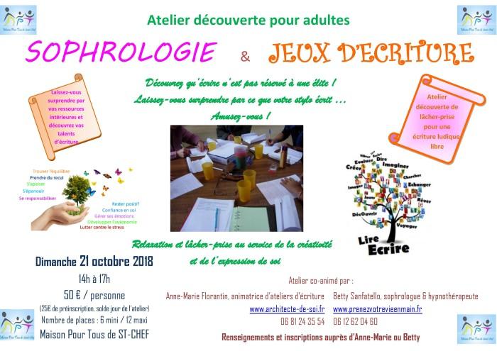 Atelier Ecriture 2018 10 21