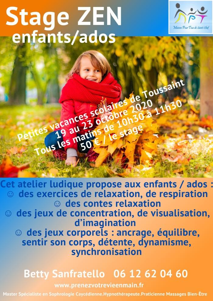 Stage Enfants Octobre 2020